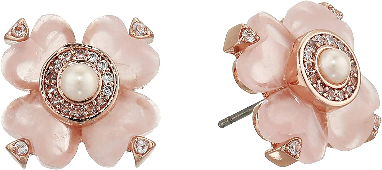 Kate Spade New York Spade Flower Studs Earrings Blush Multi One Size