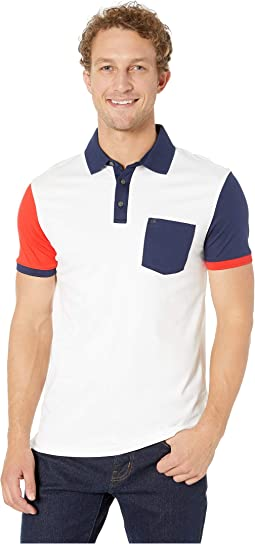 Short Sleeve Color Blocked Polo