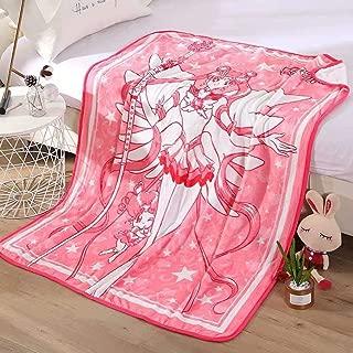 FJMM Sailor Moon Throw Blanket Anime Coral Fleece Blankets Soft 50