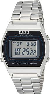 Casio B640WD-1A Men's Silver Digital Retro Stainless Steel Watch