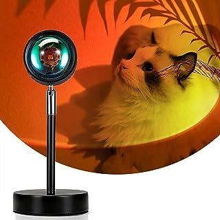 Sunset Lamp,Lampe Coucher de Soleil,Sunset Projection Lamp,Rotation à 180°,Ambiance Visuelle Romantique et Décoration Dans...