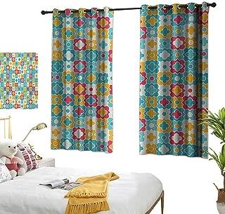 Customized Curtains,Quatrefoil,55