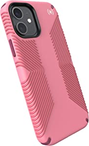 Speck Products Presidio2 Grip iPhone 12, iPhone 12 Pro Case, Vintage Rose/Royal Pink/Lush Burgundy/White