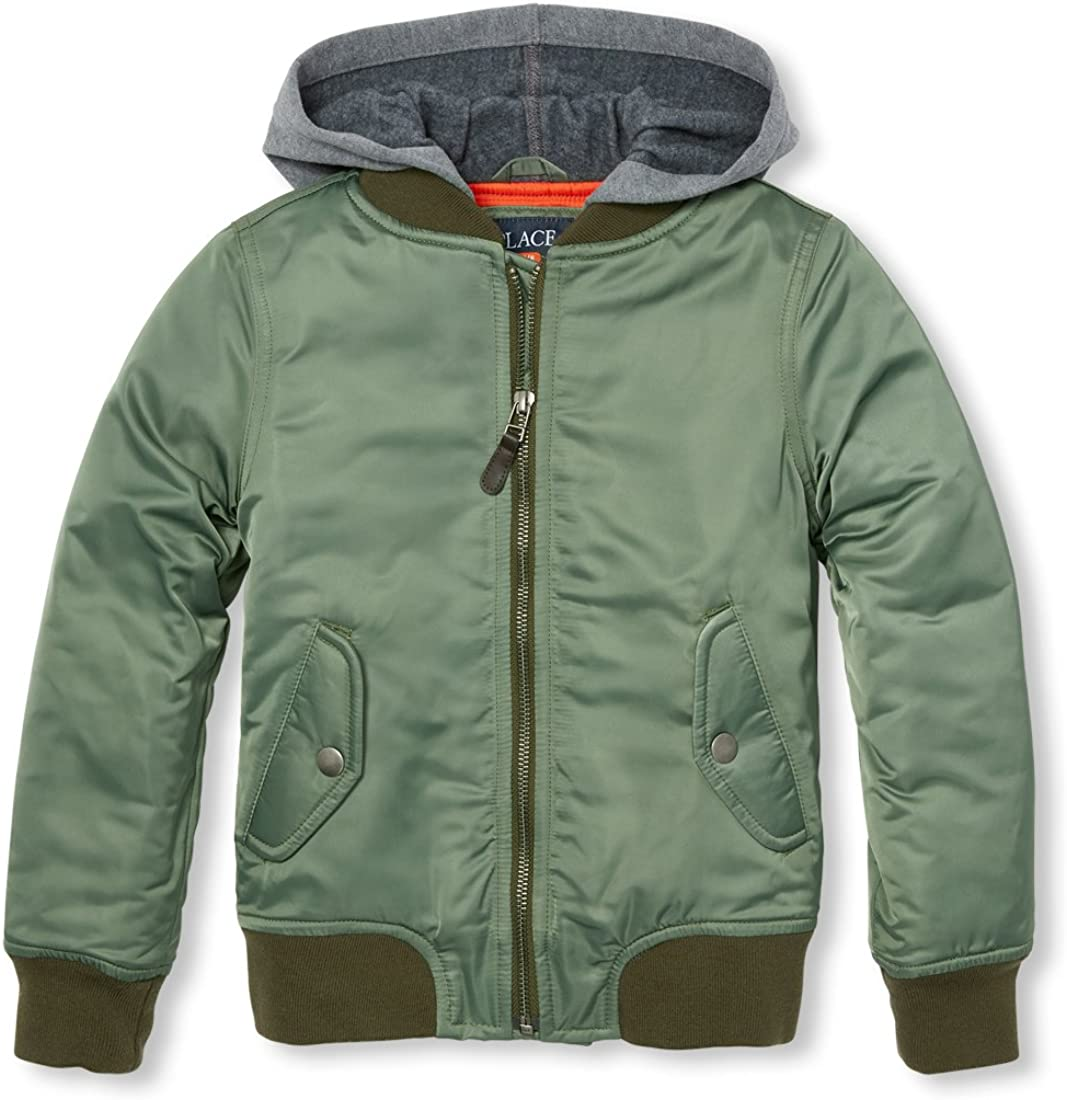 shop The Children's Place Big Bomber Recommendation Boys' Hooded