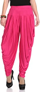 Ardour Relaxed Comfortable Viscose Dhoti Pants Yoga Fitness Activewear for Women Dance - Free Size.Many Colors
