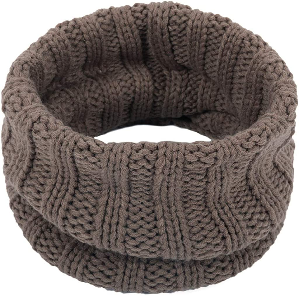 WUAI Challenge the lowest price of Japan Men Women Neck New Orleans Mall Warmer Fleece Win Scarf Thick Circle Knitted