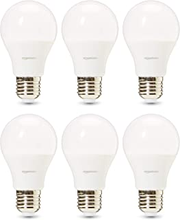 AmazonBasics Professional - Bombilla de tipo Edison LED, casquillo E27, equivalente a 40W, blanco cálido - juego de 6