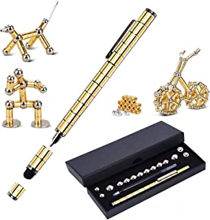 Magnetic Fidget Pen Toy Magnet Gel Pen Fidget Toy Think Ink Pen, can be Transformed into a Variety of Creative for Adult and Children Stress Relief Office Product