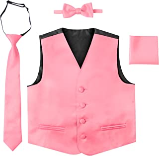 Luca Gabriel Toddler Boys' 4 Piece Formal Satin Vest Set