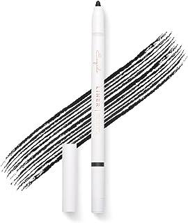 Gel Eyeliner Pencil (Black) - Long lasting, waterproof, pigmented and smooth, built-in sharpener, best eye ...