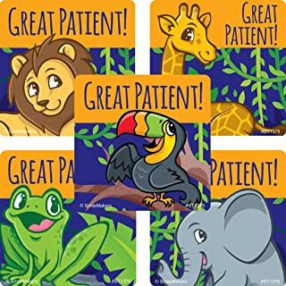 SmileMakers Great Patient Jungle Friends Stickers - Prizes 100 per Pack