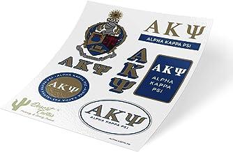Alpha Kappa Psi Standard Sticker Sheet Decal Laptop Water Bottle Car AKPsi (Full Sheet - Standard)