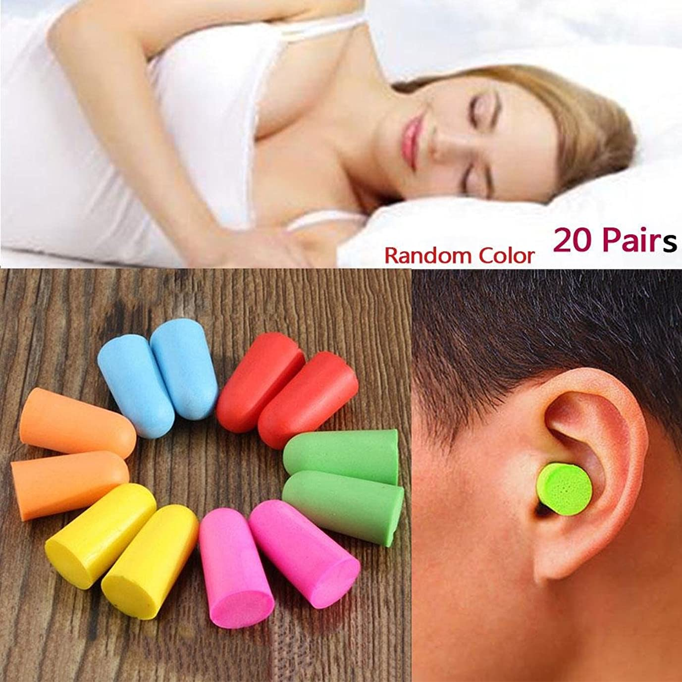 カード医師高揚したNOTE 20ペアソフトクラシック泡耳栓旅行睡眠騒音低減防止耳栓遮音耳保護