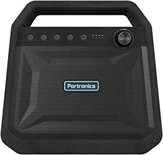 Portronics Roar, a 2x12W Bluetooth 4.2 Stereo Speaker with TWS, Aux in, Micro SD Card and 6, 000mAh Battery, Black