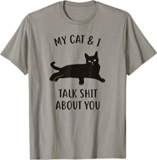 Cat Shirts For Women: My Cat & I Funny Black Cat T-Shirt