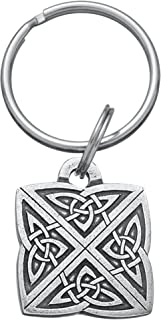 DANFORTH - Celtic Knot Keyring - 1 1/4 Inches - Pewter - Key Fob - Handcrafted - Made in USA