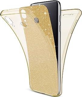 Herbests Compatibles con Samsung Galaxy M20 Cubierta, Funda [Thin Fit] Protección Completa 360 ° en un Ajuste Perfecto de 2 Piezas Premium Material TPU Silicona Case Cover,Dorado