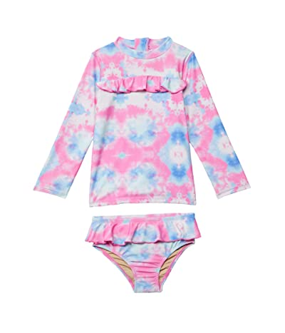 shade critters Cotton Candy Tie-Dye Rashguard Set (Infant/Toddler) Girl