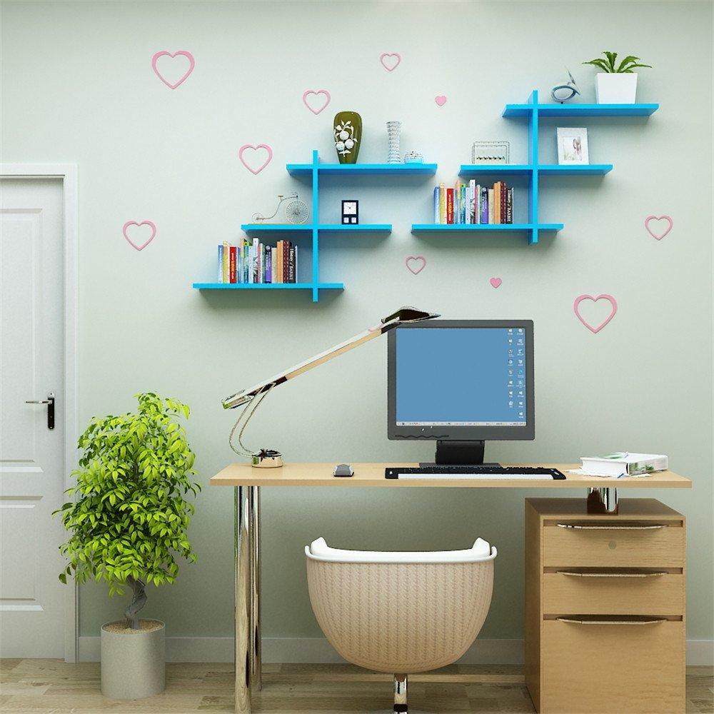 Muro creativo pintar paredes decoradas salón rack estanterías ...