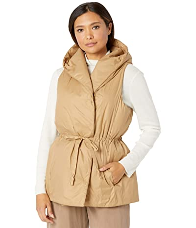Eileen Fisher Hooded Vest (Honey) Women