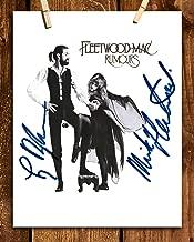 Fleetwood Mac-Rumours Autographed Album Cover-Poster Print-8 x 10 Retro Wall Art Print-Ready To Frame. Stevie Nicks & Mick Fleetwood Signatures. Home-Studio-Bar-Dorm-Man Cave Decor. Perfect Fan Gift.