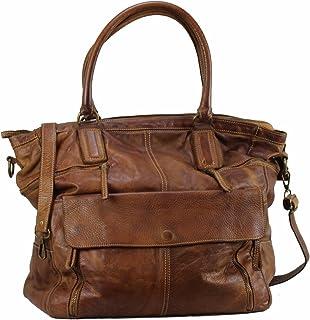 BZNA Bag Boney cognac Shopper Italy Designer Damen Handtasche Schultertasche Tasche Leder Shopper Neu