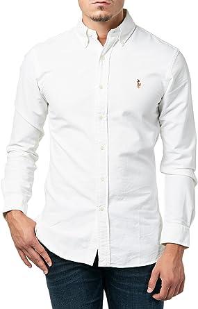 Polo Ralph Lauren Slim Ft BD Ppc White Camisa Casual para Hombre