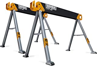 ToughBuilt - Folding Sawhorse/Jobsite Table - Sturdy, Durable, Lightweight, Heavy-Duty, 100% High Grade Steel, 41.5-Inch E...