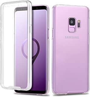 Casetego Casetego Compatible Galaxy S9 Case,360 Full Body Two Piece Slim Crystal Transparent Case with Built-in Screen Pro...