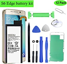 HDCKU S6 Edge Battery Replacement Kit Compatible For Galaxy S6 Edge SM-G925 EB-BG925ABE with Full Repair Tools and Instructions (1 Year Warranty)