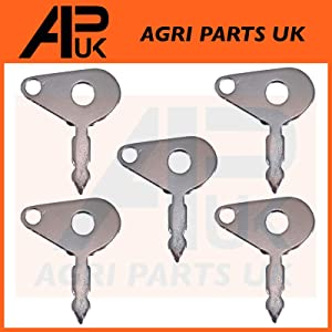 APUK Pack Universal Ignition Switch Keys Tractor Digger Forklift Compatible with JCB Lucas Metal