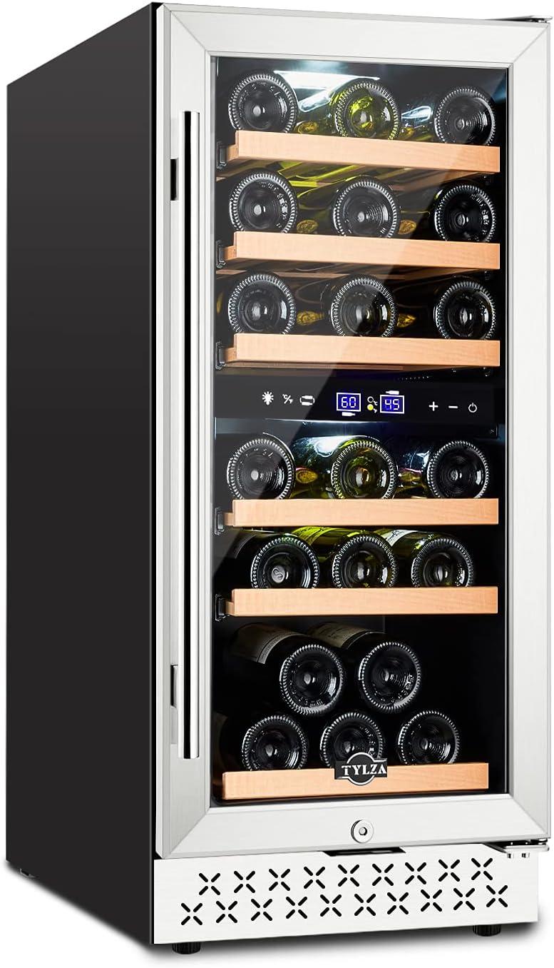 【Upgrade】TYLZA 15 Inch Dual Superior Zone Brand Cheap Sale Venue Ref Cooler Wine