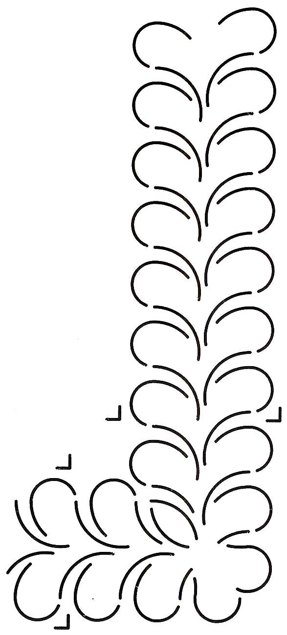 Golden Threads Double Feather Quilt Stencil, 2-3/4