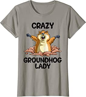 Womens GroundHog Day Lady T-Shirt Gift Forecasting Shadow Vibes
