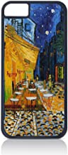 Vincent Van Gogh Café Terrace at Night- Case for The Apple iPhone 6 Only-Hard Black Plastic Outer Shell