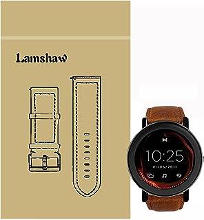 ミスフィット蒸気対応Lamshawバンド ミスフィット蒸気対応ステンレス金属高品質ベルト交換バンド(レザーブラウン)
