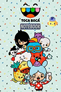 "Toca Boca NOTEBOOK: Notebook, Daily Planner for kids, a Great Gift For All Toca Boca Fans.(120 Pages / 6,9"" )"