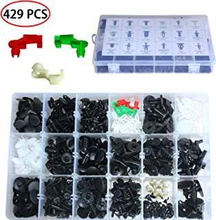 Auto Clips Car Retainer Clips Push Type Retainer Clips Tailgate Handle Rod Clip Pin Rivets Fasteners Kit Auto Door Trim 429 Pcs Panel Clip 20 Most Popular Sizes for GM Ford Toyota Honda Chrysler