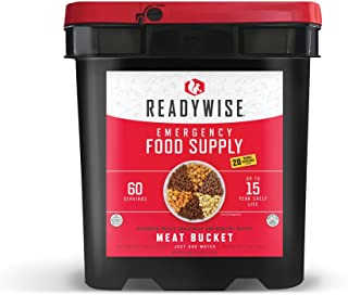 Wise Company Emergency Food Supply, Freeze Dried Meat Variety, 15-Year Shelf Life, 60 Servings