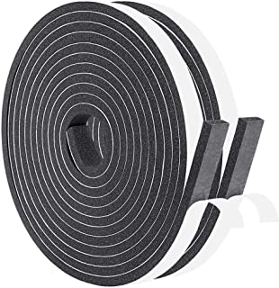 Foam Strips with Adhesive 1/2 Inch Wide X 1/4 Inch Thick, Neoprene Weather Stripping High Density Foam Tape for Doors and ...