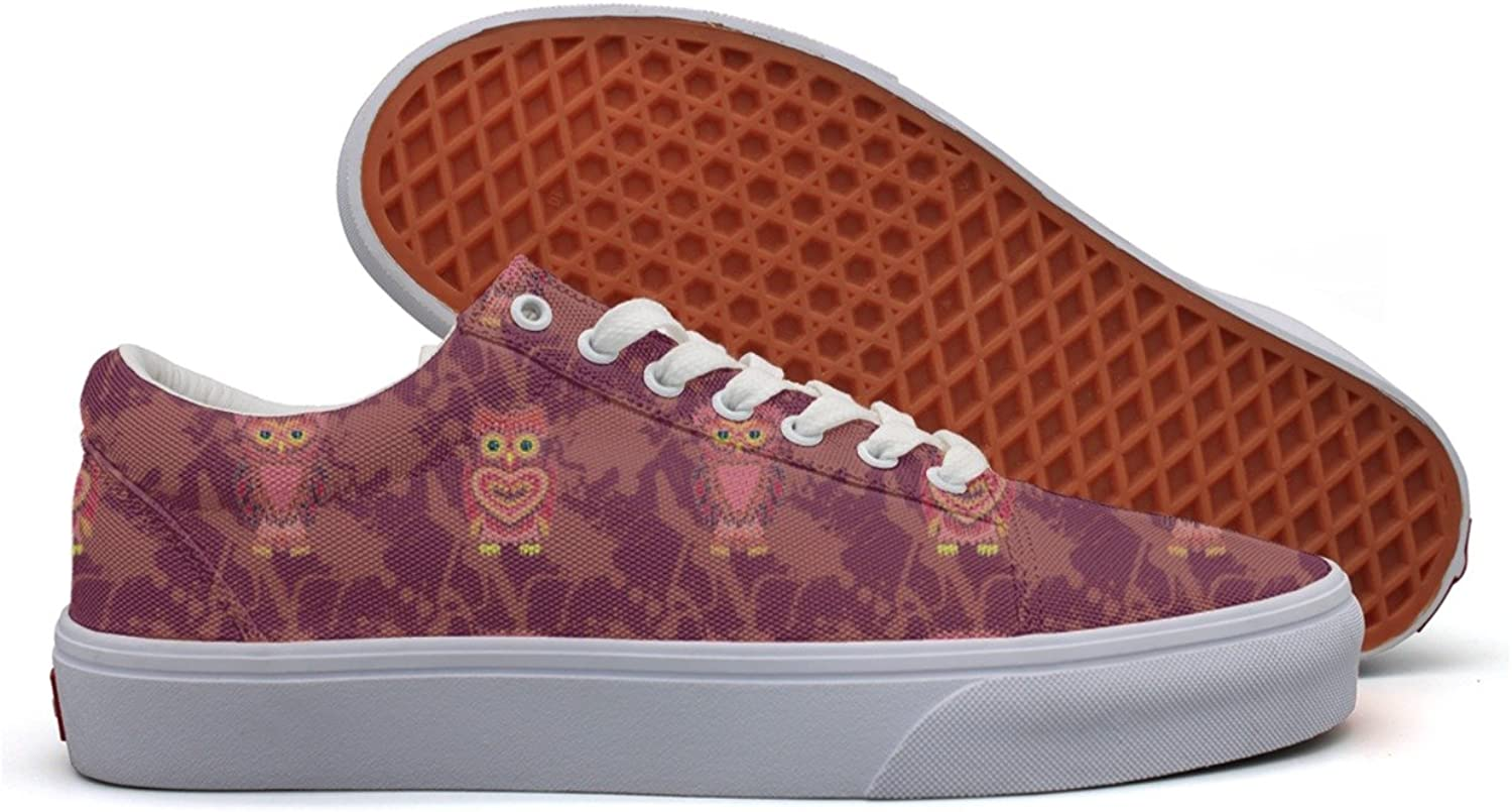 Hand Drawn Owl Gifts Women's Casual shoes Sneakers Canvas Slip Spring Original