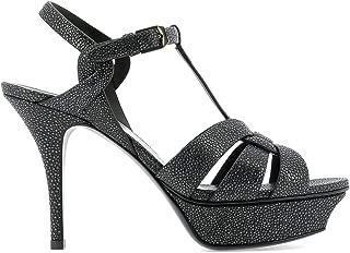 SAINT LAURENT Luxury Fashion Womens 5353151LP001711 Grey Sandals | Fall Winter 19