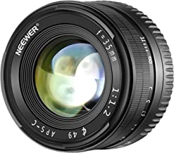 Neewer 35mm F1.2 Large Aperture Prime APS-C Aluminum Lens for Sony E Mount Mirrorless..