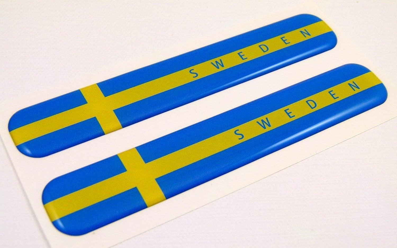 Sweden Swedish Flag Domed Decal Emblem Resin car stickers 5