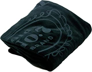 Jack Daniel's Label Plush Blanket with Vinyl Carrying Case – Official Product – 50 x 60 inches