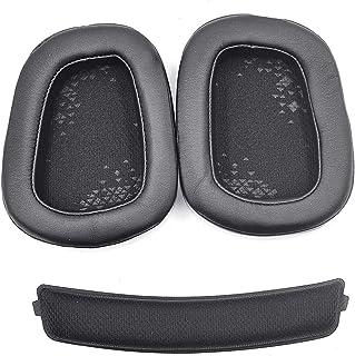 Defean Earmuff earpads Cup Cover Cushion Ear Pads Headband for Logitech G533 G933 G633 G533 633 933 Artemis Headphones (Le...
