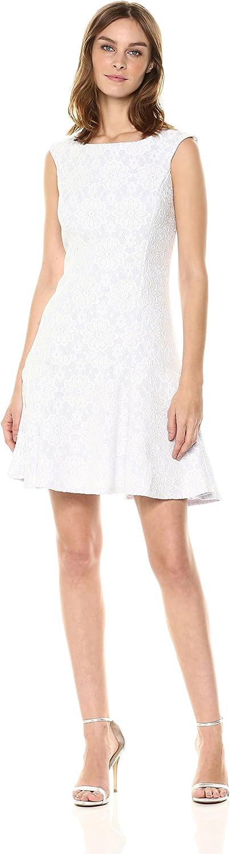 Nanette Nanette Lepore Womens Cap SLV Paneled Lace DRS W Flounce Hem Dress