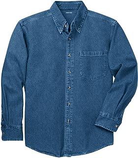 Joe's USA Mens Long Sleeve Heavyweight Denim Shirts XS-4XL