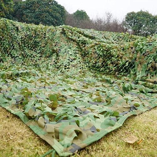 HCYTPL Filet de Camouflage - Filet d'ombre résistant Durable UV léger et Woodland pour la décoration de fête de Camping Parasol,5  10m