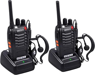 ESYNiC Paio Walkie Talkie Ricaricabile VOX Radio PMR 446MHz 0.5W Frequenza Civile Ricetrasmittente Portatile 16 Canali Sin...